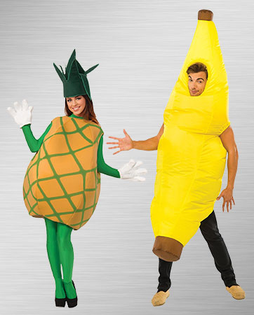 Pineapple woman and banana man Costume