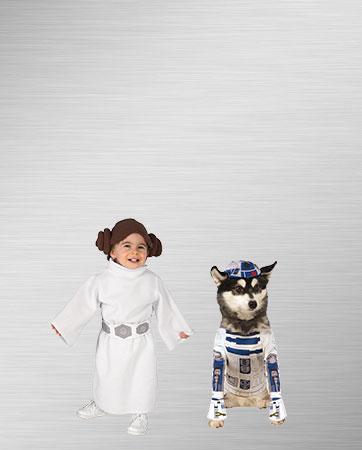 Princess Leia Girl & R2D2 Dog Costume
