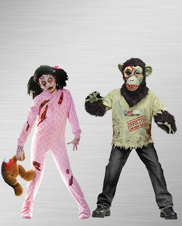 Pajama Zombie and Zombie Chimp