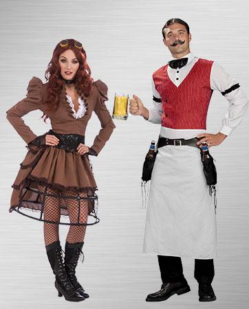 Saloon Gal & Bartender