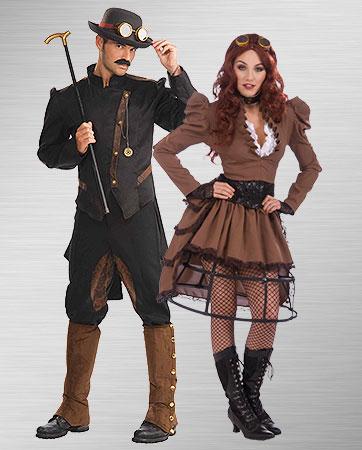 Steampunk Gentleman & Steampunk Vicky