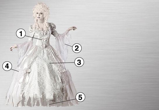 Ghost Lady Elite Costume
