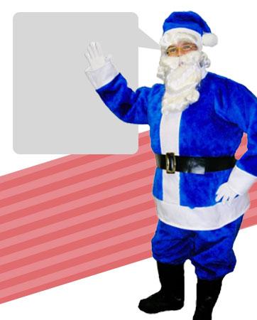 Blue Santa Bio