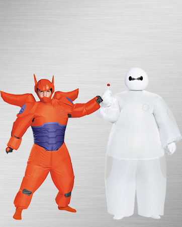 Red and white inflatable Baymax