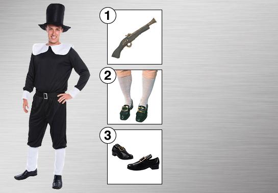 Pilgrim Man Costume