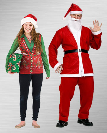 Tacky Sweater and Santa Suit Costume