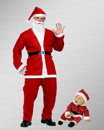 Santa & Santa Jr