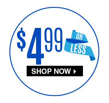 $4.99 Or Less - Shop Now