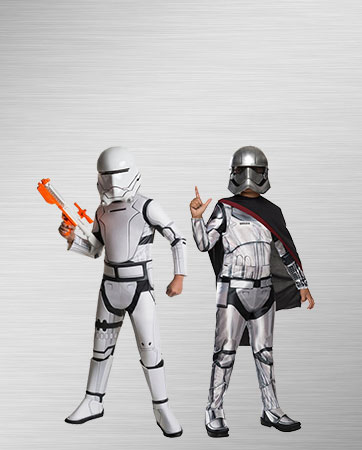 Captain Phasma and Flametrooper costumes