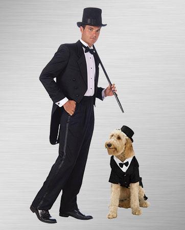 Tuxedo Man & Dog Costume