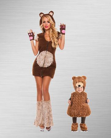Momma Bear & Cub Costume