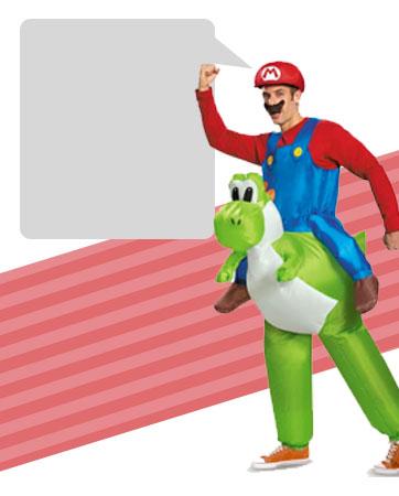 Mario Riding Yoshi Bio