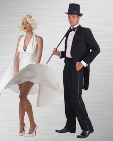 Marilyn Monroe & Tuxedo Man Couple Costume