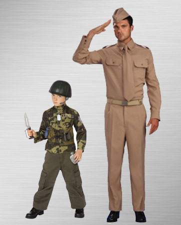 Solider Dad & Kid Costume
