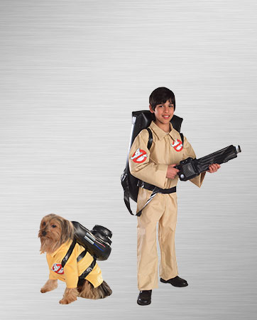Ghostbuster Dog & Kid Costume