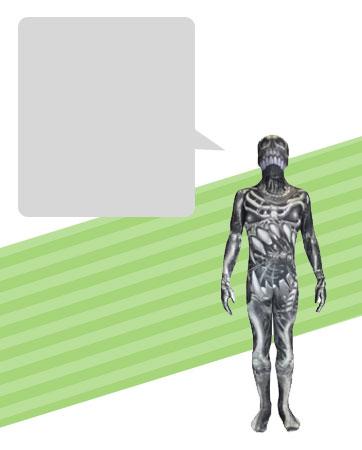 Morphsuit Skeleton Bio