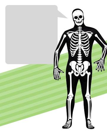 Skeleton Zentai  Bio