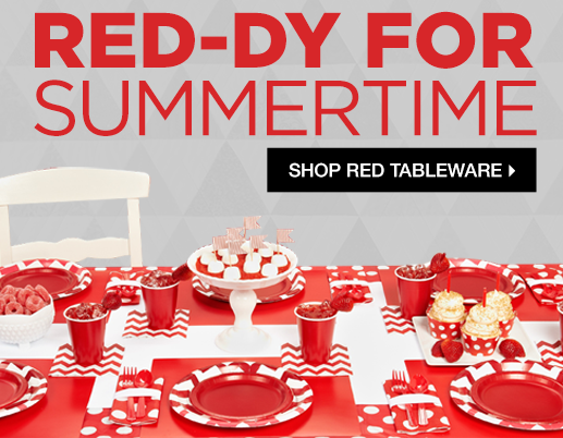 Shop Red Tableware Decorations and Party Supplies