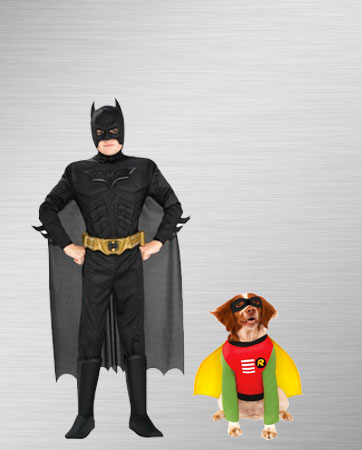 Batman & Robin Dog Costume