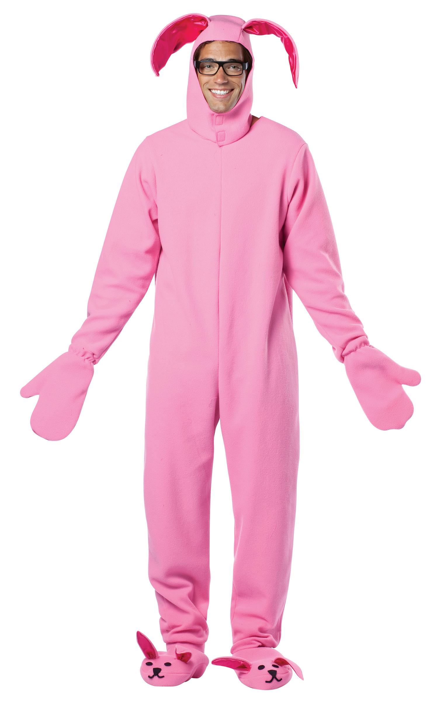 a christmas story bunny suit adult costume buycostumescom - Puck Bunny Halloween Costume