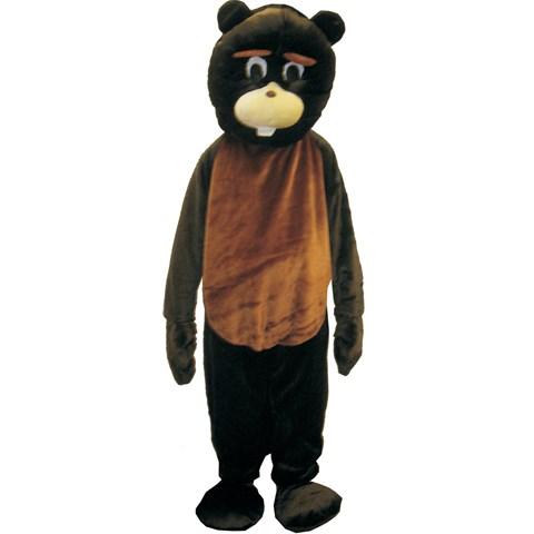 Adult Beaver Mascot Costume Set