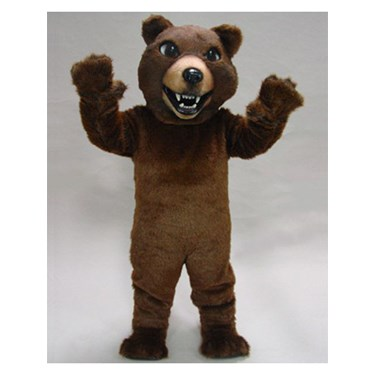 Adult Brown Grizzley Bear Mascot Costume