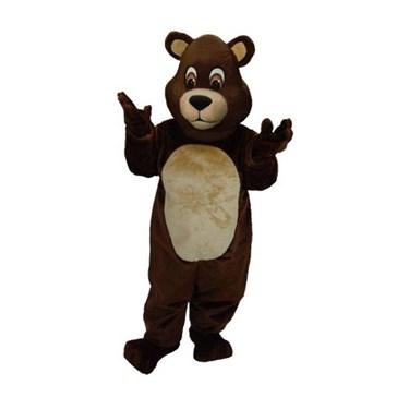Adult Chocolate Teddy Bear Mascot Costume