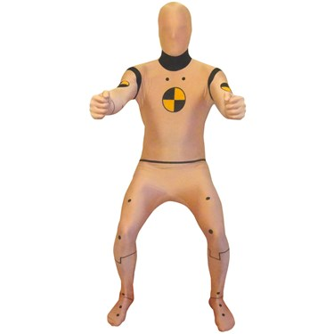 Adult Crash Test Dummy Morphsuit Costume