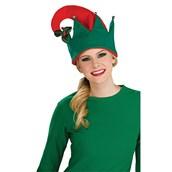 Adult Elf Hat With Mistletoe