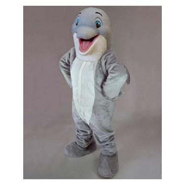 Adult Happy Dolphin Mascot Costume