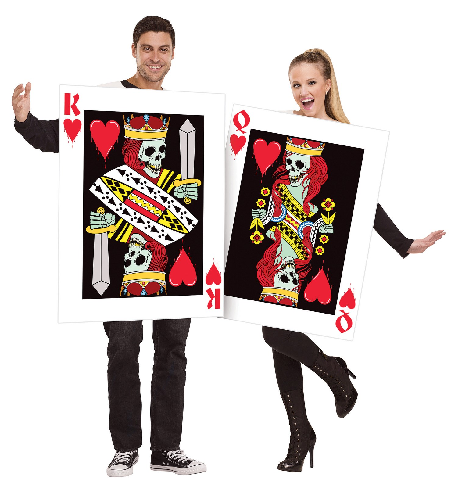 Adult King and Queen of Hearts Costume