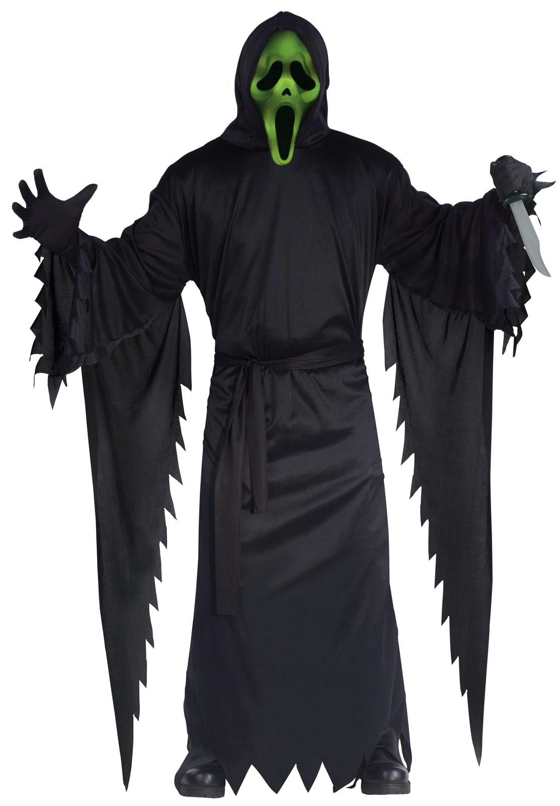 Adult Light Up Ghost Face Costume