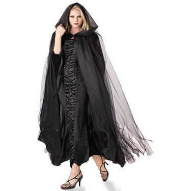 Adult Midnight Black Cape