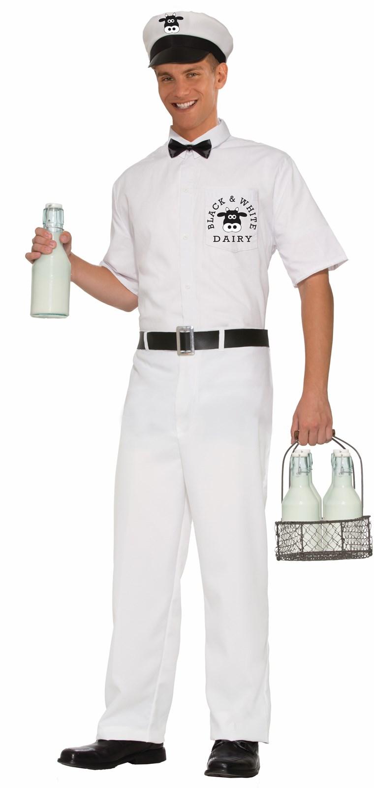 Adult Milkman Costume