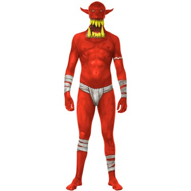 Adult Monster Collection Red Orc Costume