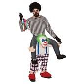 Adult Ride-A- Evil Clown Costume
