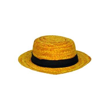 Adult Straw Roarin' 20's Skimmer Hat