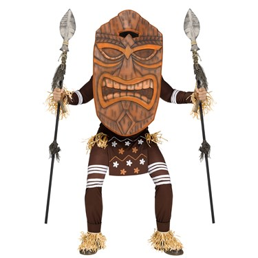 Adult Tiki Warrior Costume