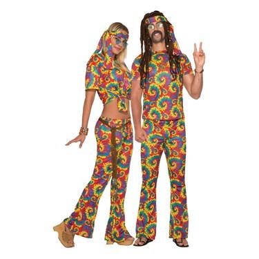 Adult Unisex Tie Dye Hippie Costume