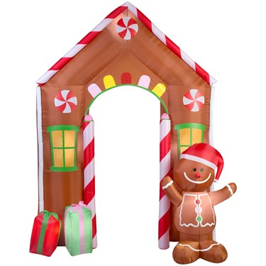 Airblown Archway Gingerbread House
