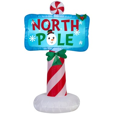 Airblown Outdoor North Pole Sign