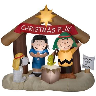 Airblown Peanuts Nativity Scene