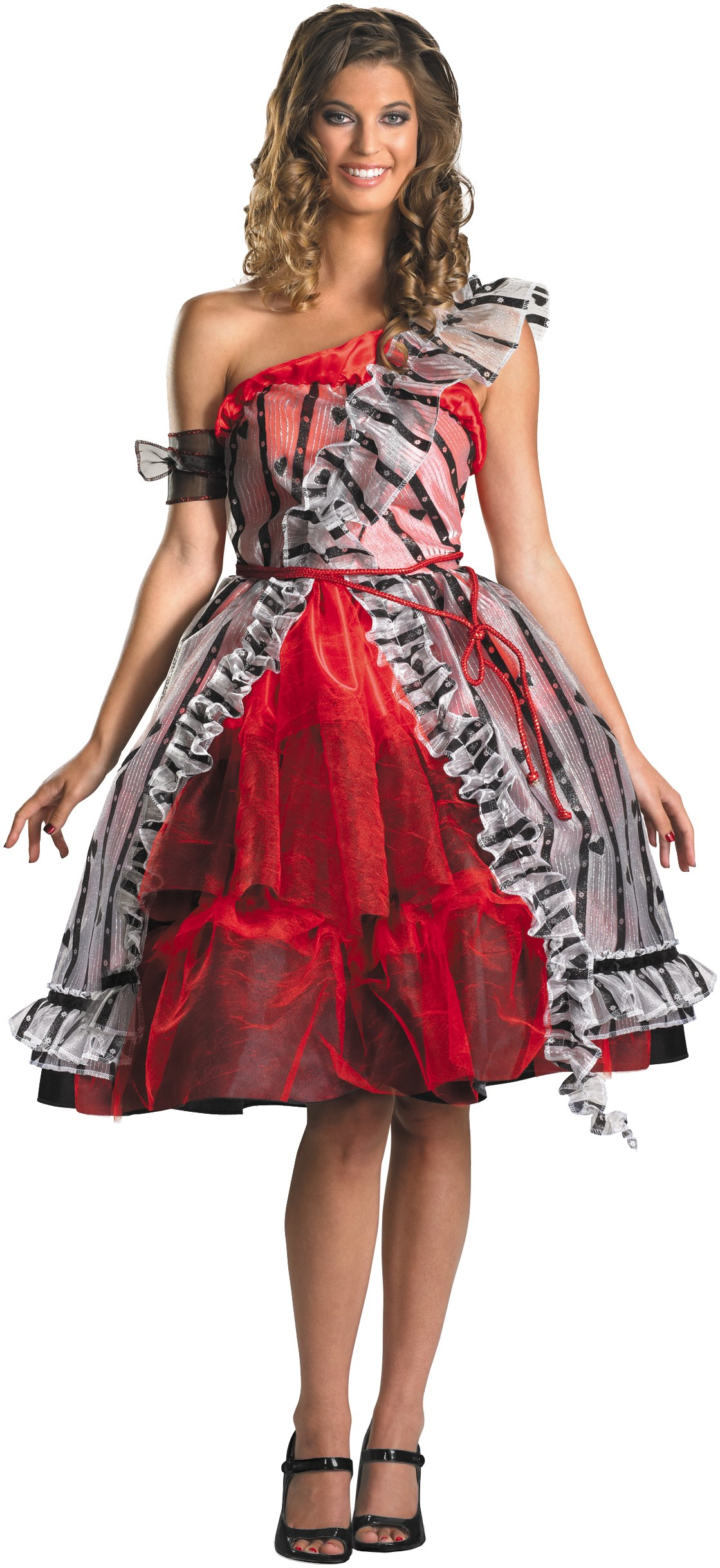 Alice In Wonderland - Alice Red Court Dress Adult Costume | BuyCostumes.com