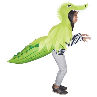 Alligator Hoodie with Inflatable Tail