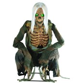 Animated Crouching Bones Skeleton with Lights