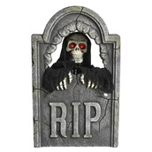 Animated Glowing Red Eye Reaper Tombstone