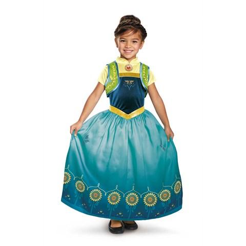 Anna Frozen Fever Deluxe Costume For Girls