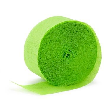 Apple Green (Lime Green) Crepe Streamer - 81'