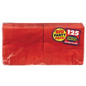 Apple Red Big Party Pack - Beverage Napkins (125 count)