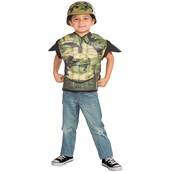 Army Combat Muscle Chest Shirt Set Child One Size